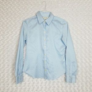 Banana Republic Size 4P Fitted Striped Button Down